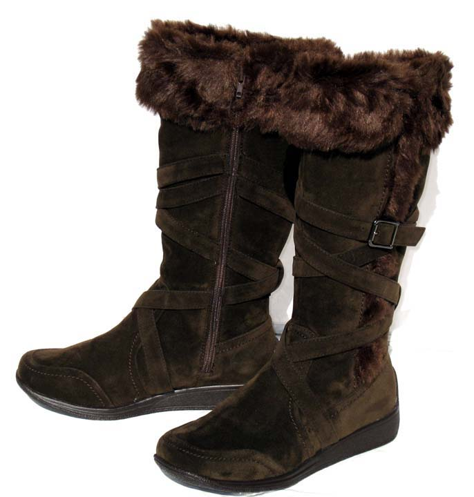 Womens Brown Knee High Boots Size 8